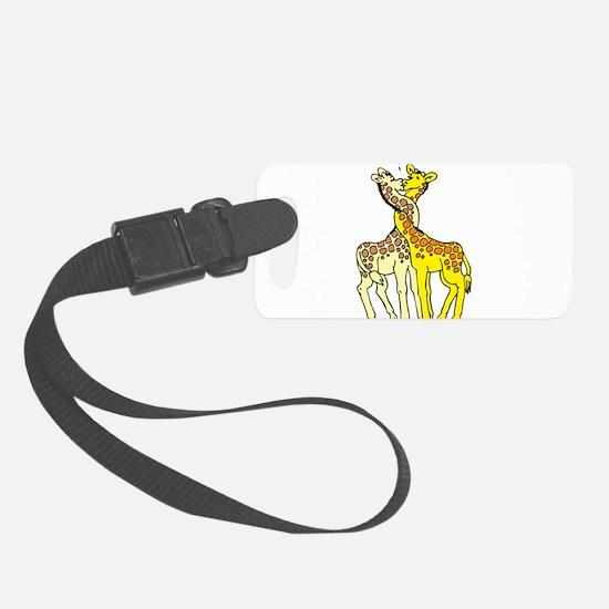 Giraffes In Love Luggage Tag
