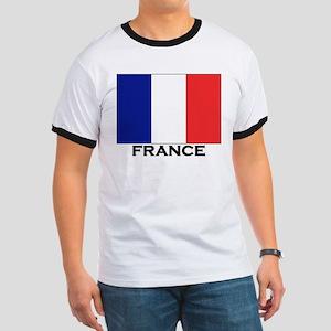 France Flag Stuff Ringer T