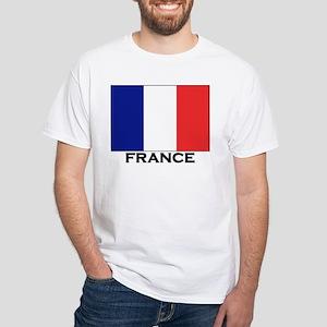 France Flag Stuff White T-Shirt