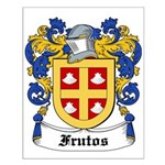 Frutos Coat of Arms Small Poster