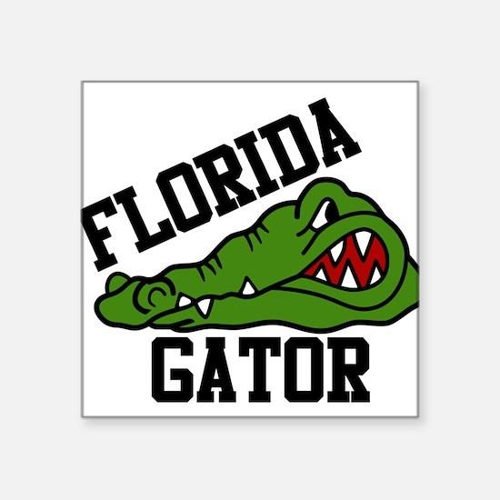 "Florida Gator Square Sticker 3"" x 3"""