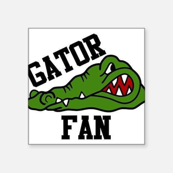 """Gator Fan Square Sticker 3"""" x 3"""""""