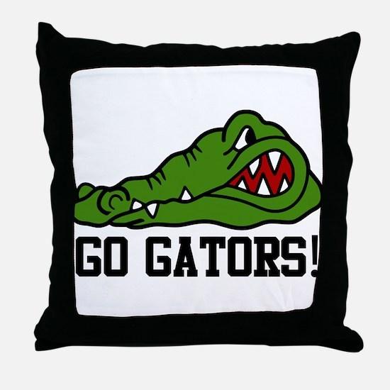 Go Gator Throw Pillow