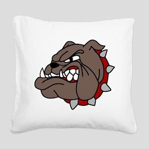 Bulldog Square Canvas Pillow