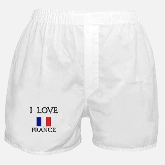 I Love France Boxer Shorts