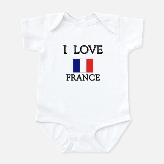 I Love France Infant Bodysuit