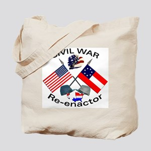 Civil War Re-enactors Tote Bag