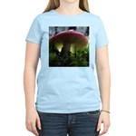 Red Mushroom and Tiger Lily Women's Light T-Shirt