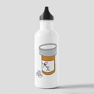 Pill Bottle Stainless Water Bottle 1.0L
