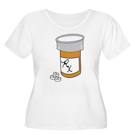 Pill Bottle Women's Plus Size Scoop Neck T-Shirt