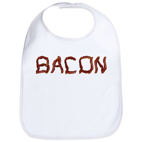 bacon spelled with bacon Bib