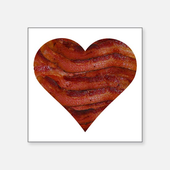 "I'm bacon hearted Square Sticker 3"" x 3"""