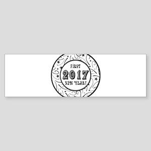 First New Years 2017 Milestone Sticker (Bumper)