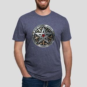 pentagram_medalion_trans.pn Mens Tri-blend T-Shirt