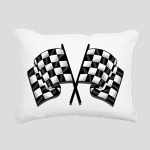 Chequered Flag Rectangular Canvas Pillow