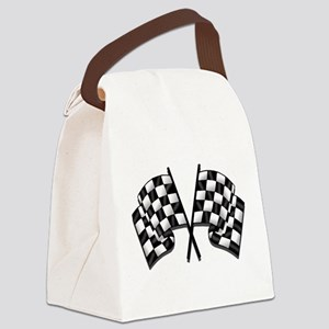Chequered Flag Canvas Lunch Bag