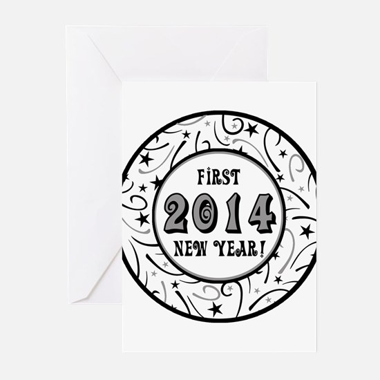 First New Years 2014 Milestone Greeting Cards (Pk