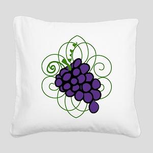 Grapes Square Canvas Pillow