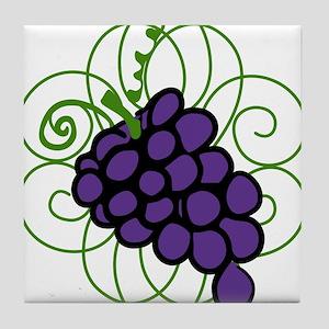 Grapes Tile Coaster