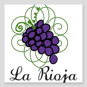 """La Rioja Square Car Magnet 3"""" x 3"""""""