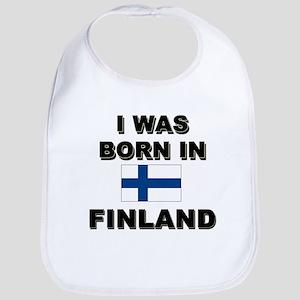 I Was Born In Finland Bib