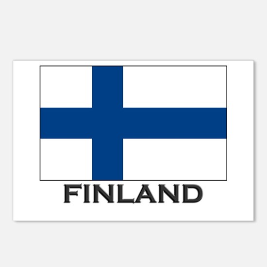 Finland Flag Stuff Postcards (Package of 8)