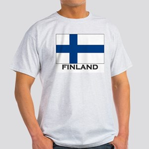 Finland Flag Stuff Ash Grey T-Shirt
