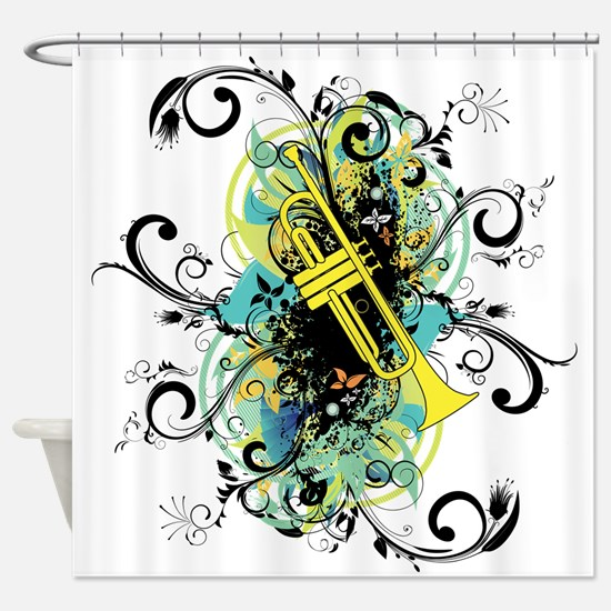 Swirl Trumpet Shower Curtain