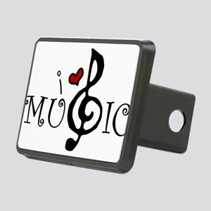 I Love Music Rectangular Hitch Cover