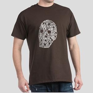 Vintage Hockey Goalie Typography Mask Dark T-Shirt