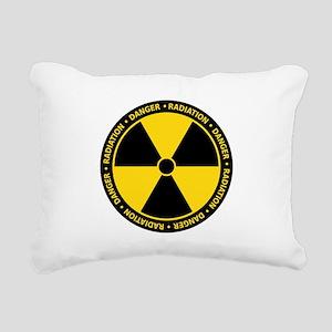 Radiation Warning Rectangular Canvas Pillow