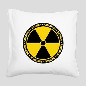 Radiation Warning Square Canvas Pillow