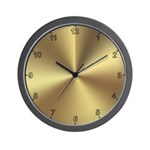 Gold Wall Clock