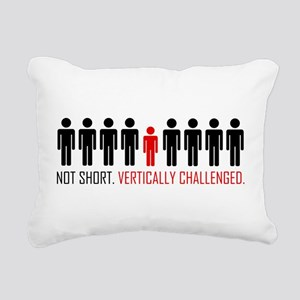 Vertically Challenged Rectangular Canvas Pillow