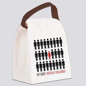 Vertically Challenged Canvas Lunch Bag