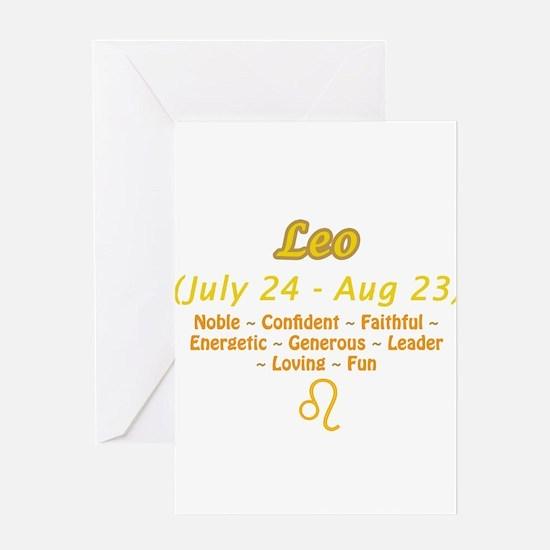 Leo Description Greeting Card
