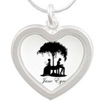 Jane Eyre Silver Heart Necklace