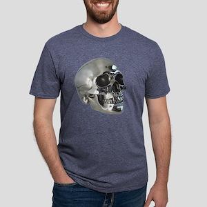 skull_silver_metalic_trans. Mens Tri-blend T-Shirt