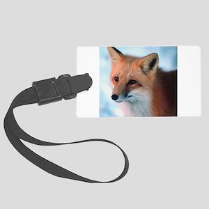 Cute Fox Large Luggage Tag