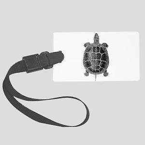 Vintage Turtle Large Luggage Tag