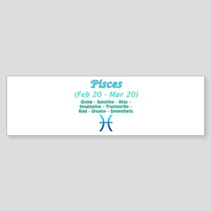 Pisces Description Sticker (Bumper)