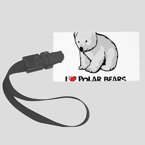 I Love Polar Bears Large Luggage Tag