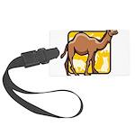 Camel Large Luggage Tag