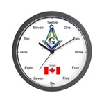 Masonic Canadian Wall Clock