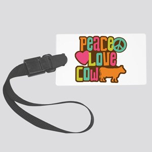Peace Love Cow Large Luggage Tag