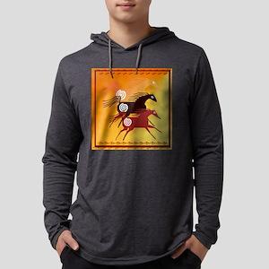 Three Ancient Horses Mens Hooded Shirt