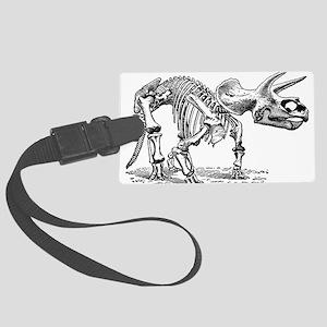 Triceratops Skeleton Large Luggage Tag