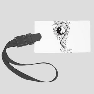 Yin Yang Dragon Large Luggage Tag