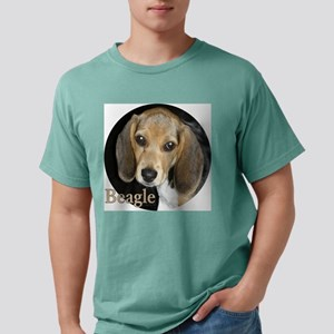 Close Up Beagle Puppy Mens Comfort Colors Shirt