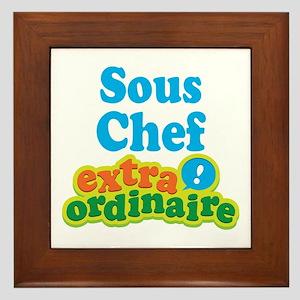 Sous Chef Extraordinaire Framed Tile